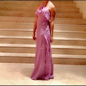 Purple flowey dress silk